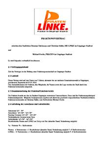 Öffentlicher Fraktionsvertrag der Fraktion LINKE & PIRATEN vom 15. Juni 2014